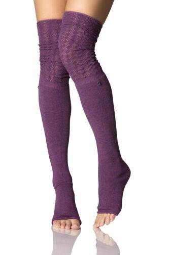 Donna 1 Paio ToeSox Sasha sopra il ginocchio aperto piede Slouch Socks