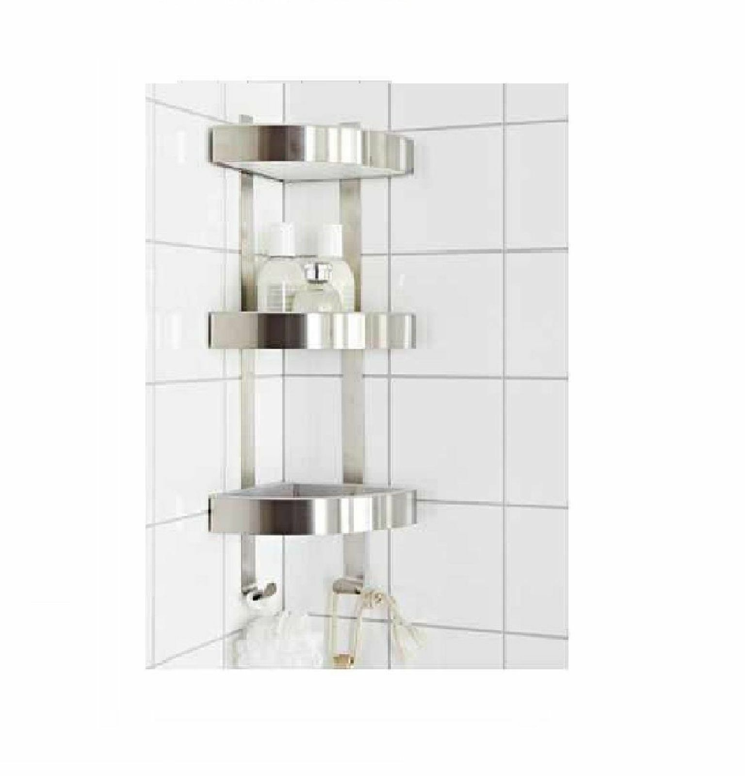 Stainless Steel 3 Tier Corner Wall Mounted Caddy
