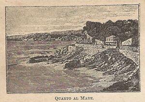 Utile A0132 Quarto Al Mare - Vedute - Stampa Antica Del 1907 - Xilografia