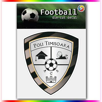 "ACS Poli Timisoara UEFA Die Cut Vinyl Sticker Car Bumper Window 4""x3.6"""