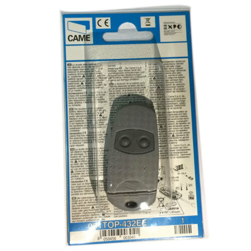 001TOP-432EE gate key fob copy remote 433,92 Mhz UK Stock. 5 X CAME TOP 432EE