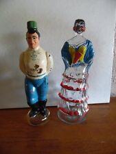 2 Empty Figural Bottles John Lawrence  Sailor Dalmau Hermanos Tarragona Senorita