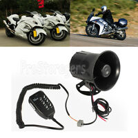 50w/12v Car Motorcycle Police 6 Sound Siren Megaphone Speaker Horns With Mic