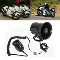 50w/12v Car Motorcycle Police 6 Sound Siren Megaphone Speaker Horns With Mic
