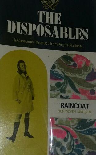 Paper Raincoat Vintage Mid Century MCM RARE Mod 60