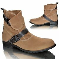 Mens New Combat Ankle Cowboy Military Army Force Biker Boots Shoes Size UK 7 8 9