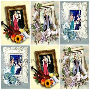12-ART-DECO-ROSALAINE-Embellishments-Card-Making-Toppers-Card-Toppers
