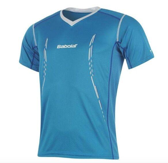 Babolat men Performance Tennis Camicia Sport blue