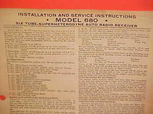 1935 belmont auto car radio installation service manual model 680 rh ebay com belmont clesta service manual belmont clesta service manual