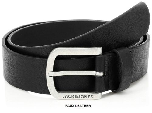 Jack /& Jones Men/'s New Genuine LEATHER BELT and FAUX LEATHER BELT Black Brown