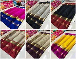 Indian-Ethnic-Wear-Designer-Cotton-Silk-Saree-Traditional-Pakistani-KanjivaramHR