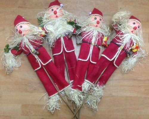 Babbo NATALE DECORATIVA SPAVENTAPASSERI su stick Novità NATALE VASO Decorazione di Natale