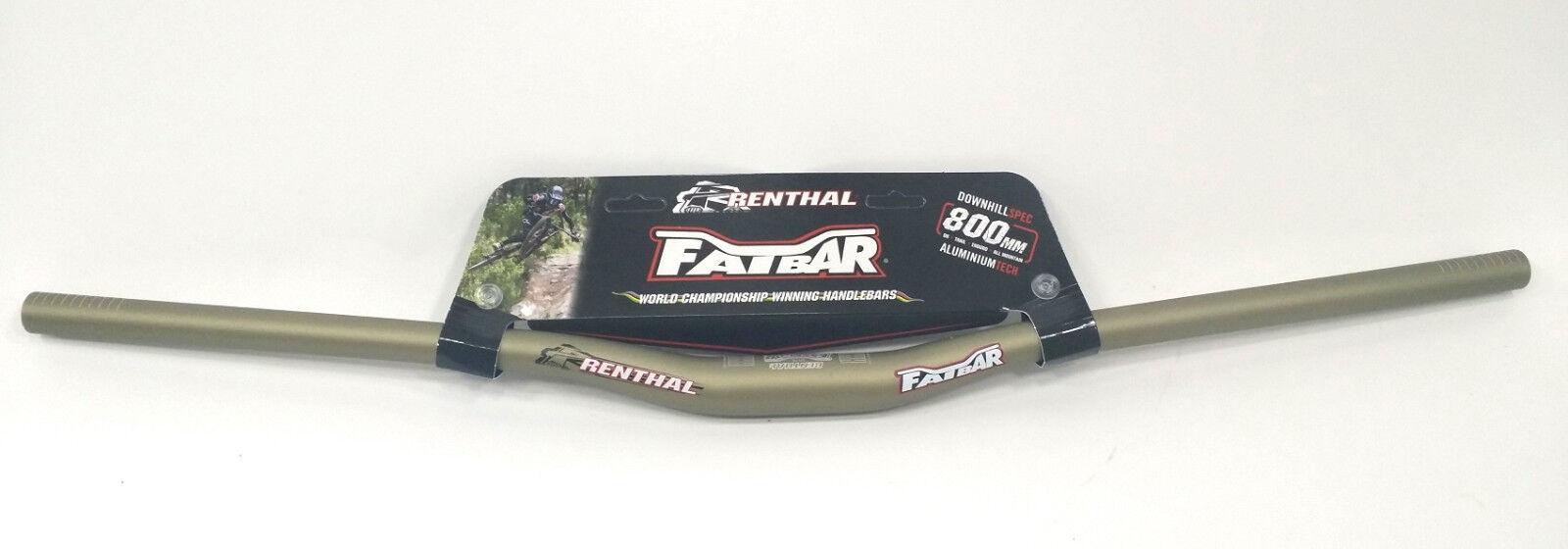 Renthal Fatbar V2  MTB Handlebar 31.8mm, 800mm Width, 20mm Rise, gold  team promotions