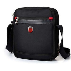 Swiss-Gear-Men-Messenger-Bag-Shoulder-Black-10-034-Tablet-PC-Music-Satchel-sa9726