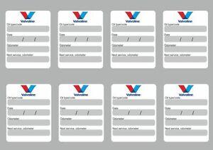 Details About 8x Valvoline Oil Change Service Reminder Decals Stickers Adhesive Labels Die Cut