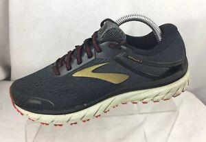 6900da9f23740 BROOKS Adrenaline GTS 18 Men Running Shoes Size 8.5 D Black/ Gold ...