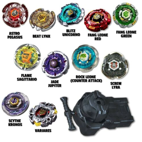 Beyblade Speed Pack Comes w// 4 Random Beyblades Fully Equipped LR Launcher