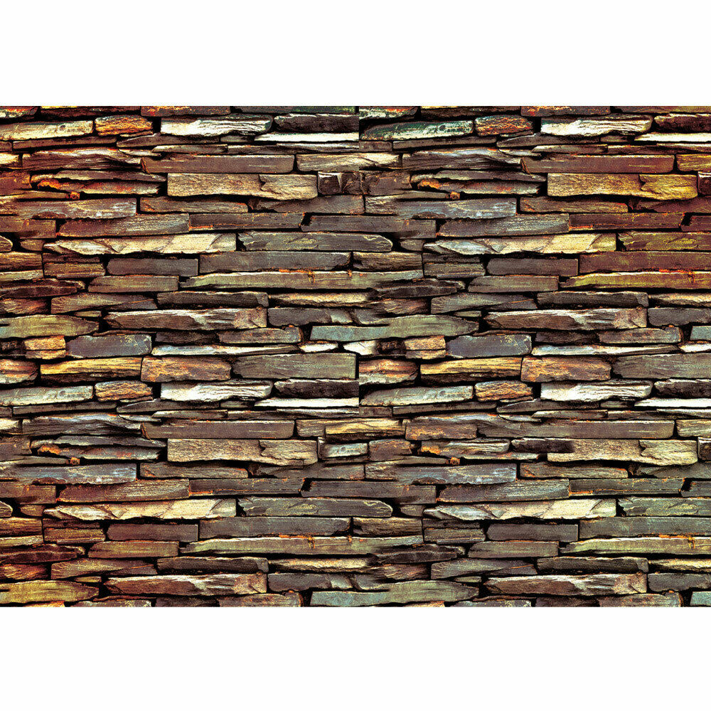 Photo Wall Paper Stones Pattern Wall Brown Liwwing No. 422