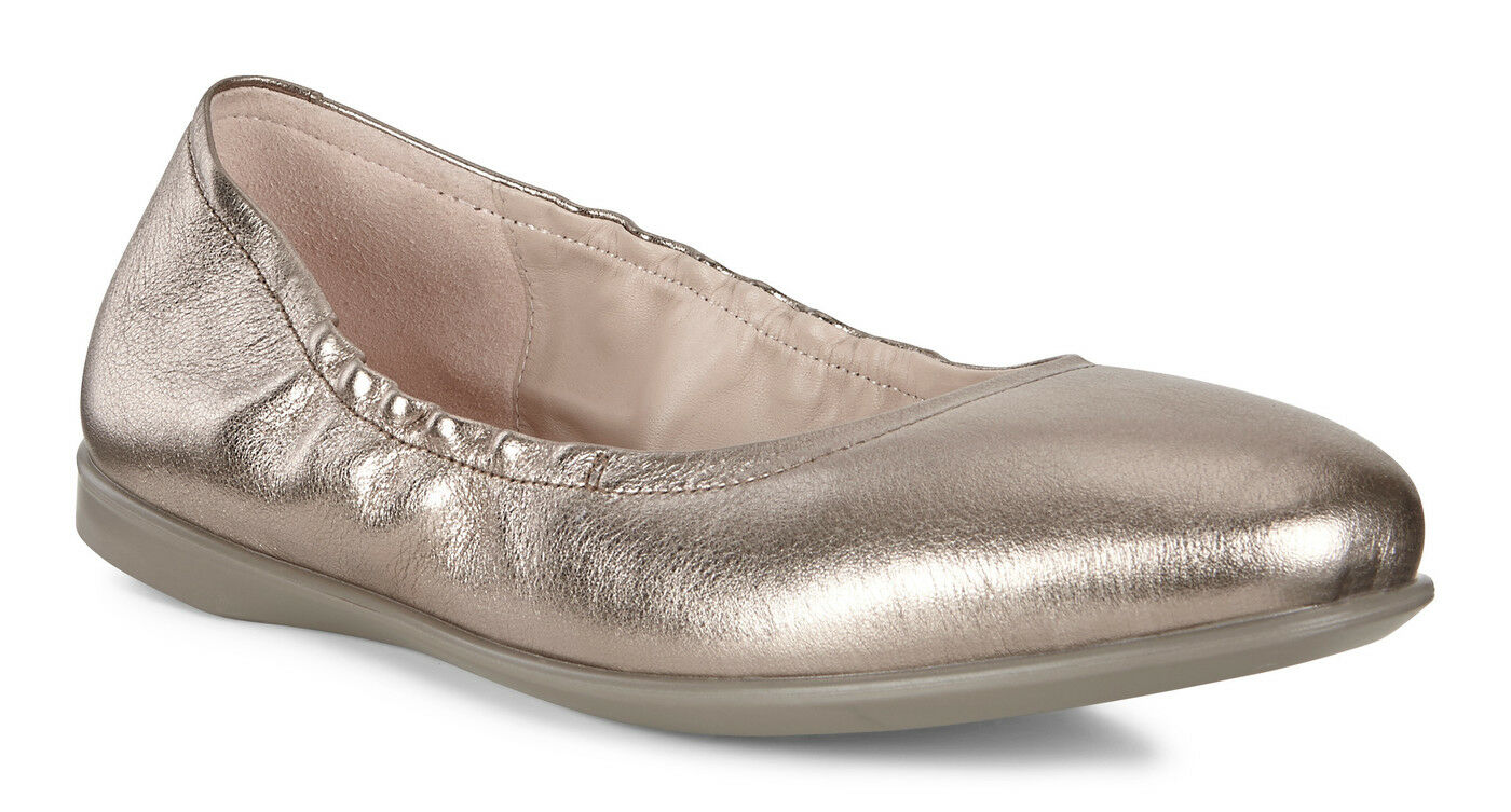 marchio in liquidazione ECCO Donna Incise Enchant Ballerina Flat Dimensione Dimensione Dimensione 37 6 6.5 Warm grigio metallic New  online al miglior prezzo