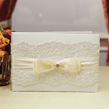 Beverly Clark French Lace Collection Wedding Guest Book Ivory Weddingstar