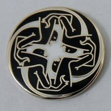 Kasabian 'Velociraptor No 2' enamel badge. Oasis,Mod,Indie.
