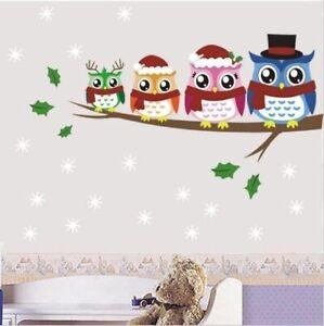 Deko-Blumen-Vogel-Eule-Natur-Kinder-Wandsticker-Wandtattoo-Aufkleber-Sticker