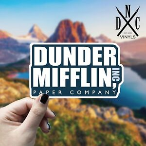 Details about Dunder Mifflin Paper Company Sticker Vinyl Decal - Car Truck  Wall The Office TV