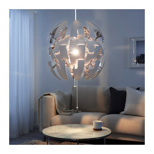 IKEA PS 2014 Pendant Lamp White Silver / Chrome Modern Chandelier ...