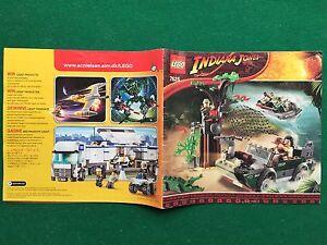 (Q62) CATALOGO montaggio LEGO 7625 INDIANA JONES 2008 prospekt catalogue KATALOG