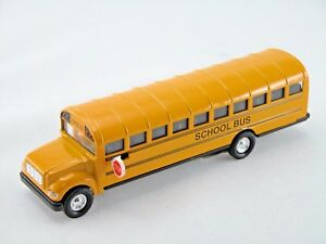 "Yellow school bus 7"" inch Die cast metal Toy"