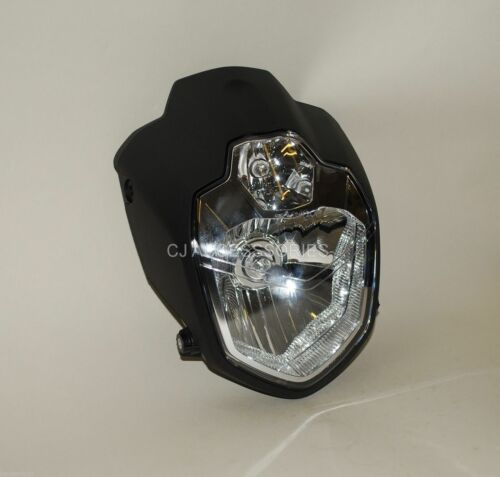 MT-03 Style Motorcycle H4 Headlight E-Marked Custom Streetfighter Cafe Racer