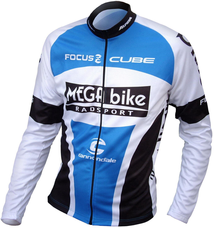 MEGA bike Team bike Rad Trikot lang, lang, lang, blau NEU ad2252