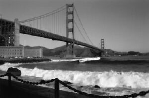 Details About Black White Prints Golden Gate Bridge In San Francisco Five Options