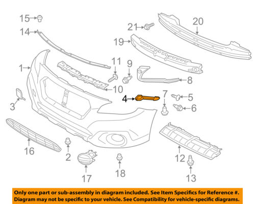 SUBARU OEM 15-16 Legacy Front Bumper-Corner Support Right 57707AL02A
