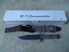 ONTARIO Commemorative M-9 Military Combat Knife Scabbard OKC ARMY NEW 2003