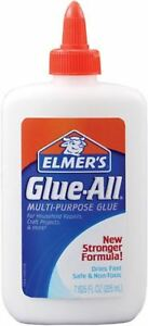 Elmer's Glue-All Multi-Purpose Glue, White 7.625 oz (Pack of 6)