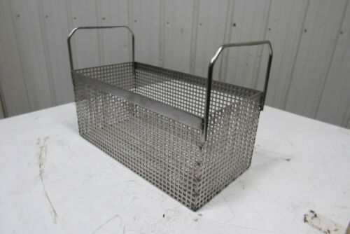 """Heavy Duty Stainless Steel Parts Washer Dip Basket 19-1//4Wx9-1//4Lx8-1//2/""""T"""