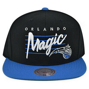 e90d5b42a Image is loading Orlando-Magic-CURSIVE-SCRIPT-Snapback-Mitchell-amp-Ness-
