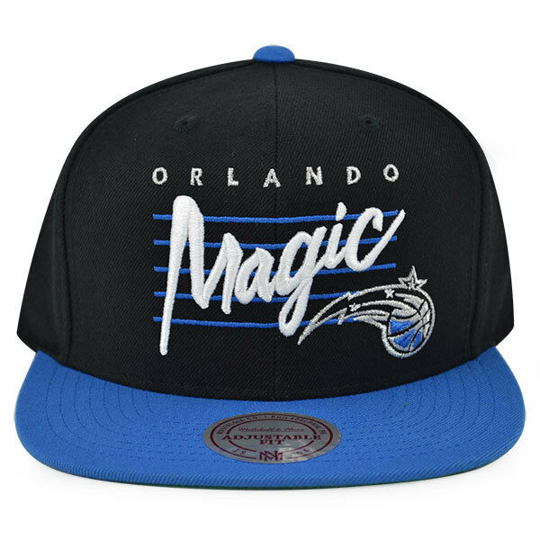 new concept ec250 5d285 Orlando Magic Cursive Script Snapback Mitchell   Ness NBA Hat for sale  online   eBay