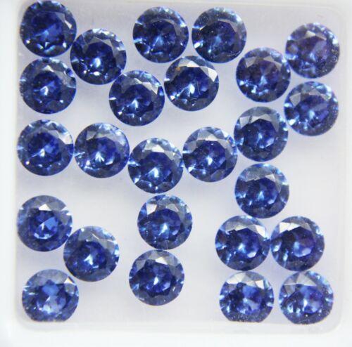 6 Ct Round Cut Natural Blue Sapphire Ceylon 4mm Gems Ggl Certified