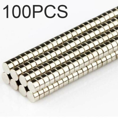100pcs Strong Magnets N50 Round Size Disc 2mm X 1mm Rare-Earth Neodymium Magnet