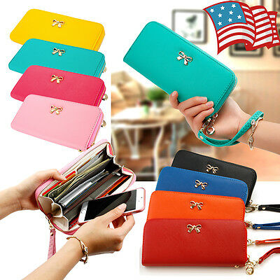 New Fashion Lady Women Leather Clutch Wallet Long Card Holder Case Purse Handbag