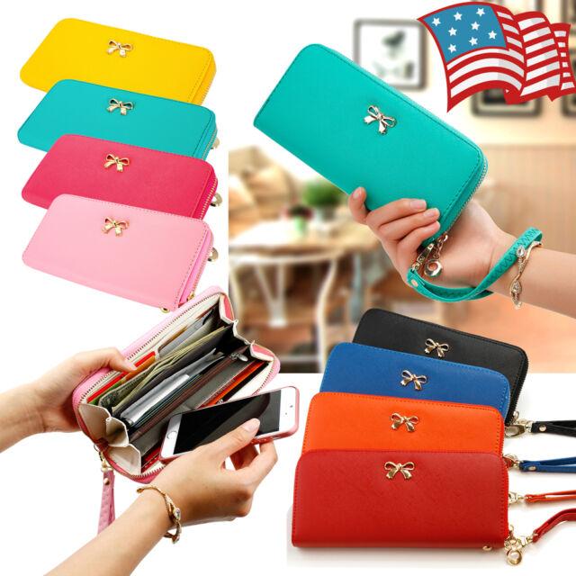 New Fashion Lady Women Leather Clutch Wallet Long Card Holder Case Purse Handbag