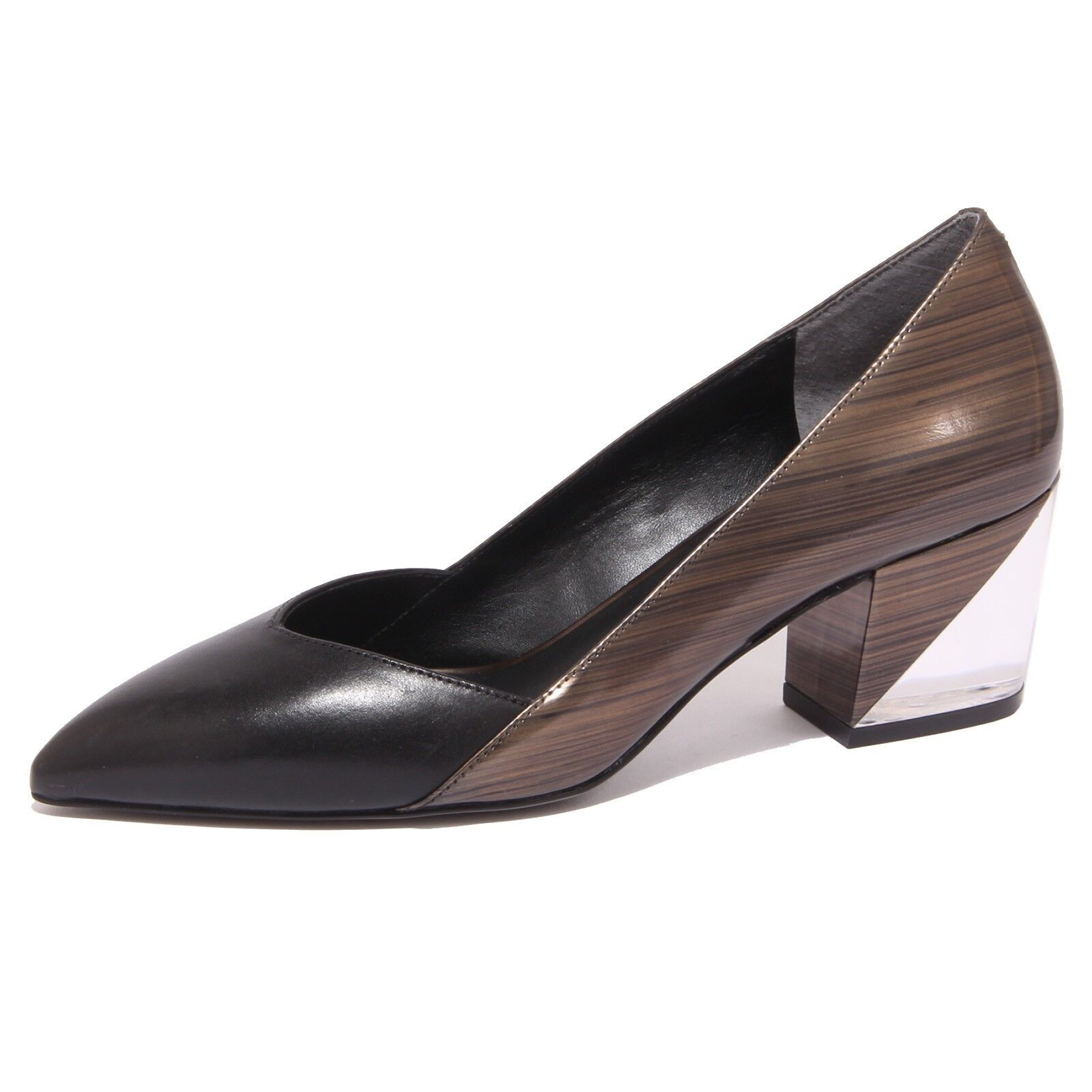 8784P decollete WHAT FOR shoe nero/bronzo scarpa donna shoe FOR woman 08b2c1