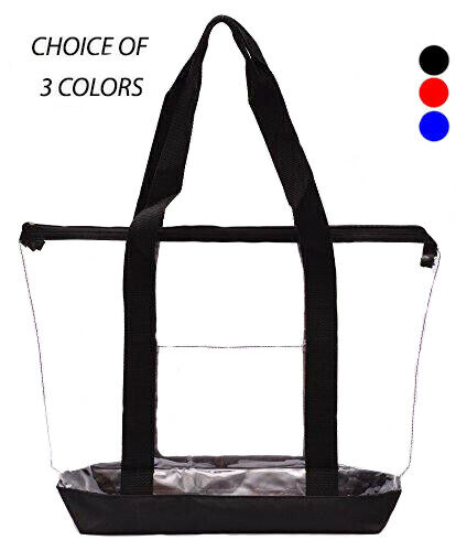 Clear Tote Bag Plastic Transpa Purse Handbag Zipper Security Event Work