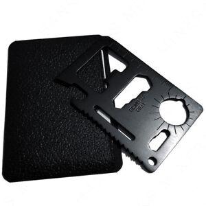 Black-11-in-1-Multi-Tool-Credit-Card-Wallet-Knife-Pocket-Survival-Camping-USA