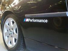 BMW M Performance Vinyl adhesive graphic car sticker decals (pair)