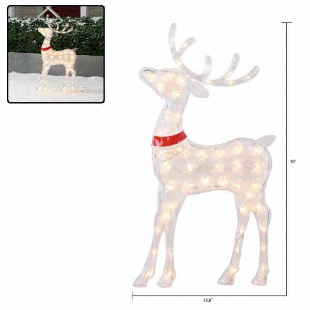 Christmas Reindeer Outdoor Yard Decoration 60 Pre Lit Deer Ice Sculpture Lights