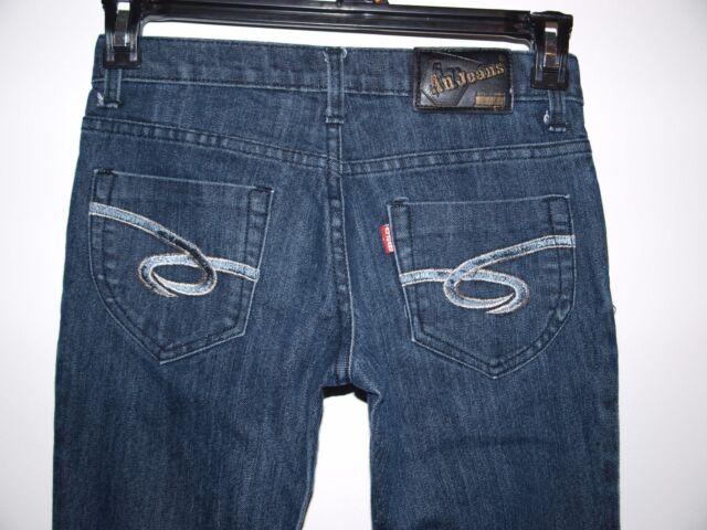 AU Jeans Size 27x26 Womens Low Rise Dark Wash Boot Cut Jeans