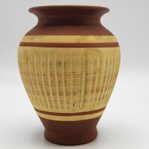 SAWA-KERAMIK-Mid-Century-Art-Pottery-Vase-West-German-ESR-Foreign-201-12-Brown